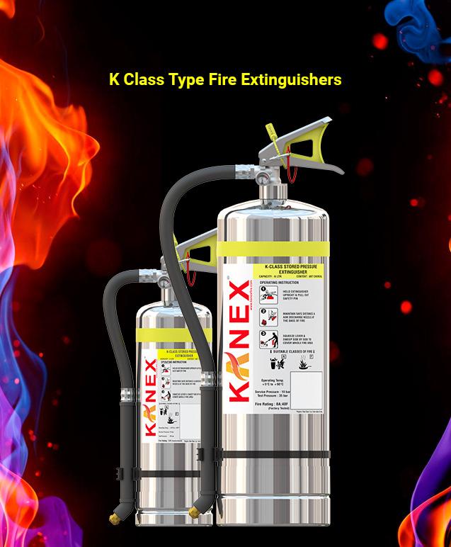 K Class Type Fire Extinguishers