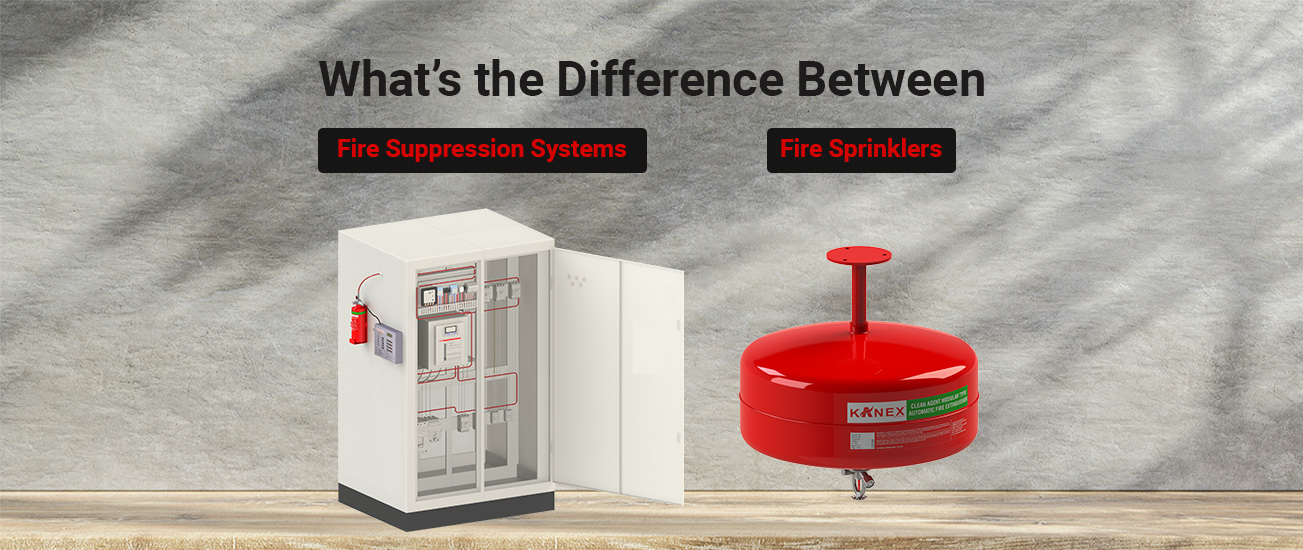Difference Between Fire Suppression Systems and Fire Sprinklers